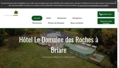 Site internet de Le Domaine des Roches