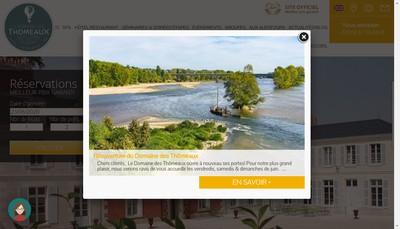 Site internet de Domaine des Thomeaux