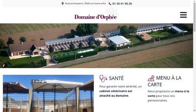 Site internet de Domaine d'Orphee