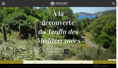 Site internet de Association du Domaine du Rayol