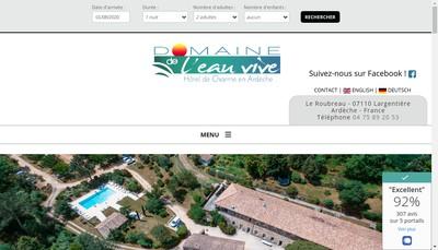 Site internet de Domaine de l'Eau Vive