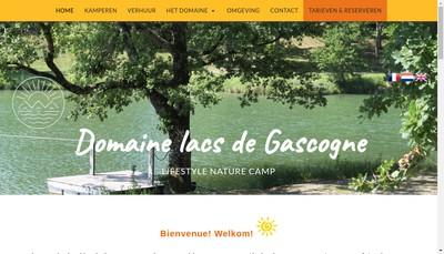 Site internet de Camping Domaine Lacs de Gascogne