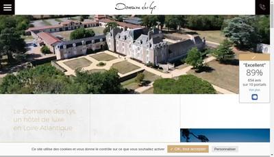 Site internet de Domaine des Lys