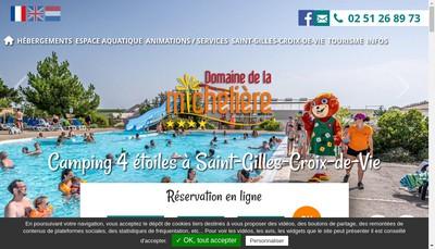 Site internet de Domaine de la Micheliere
