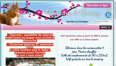 Site internet de Domaine le Quercy