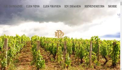 Site internet de Domaine Marc Rougeot