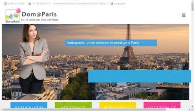 Site internet de Dom@Paris