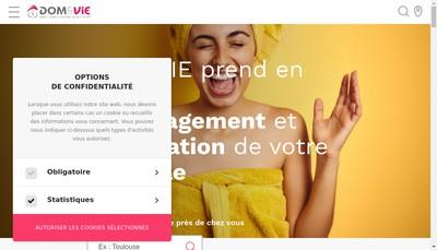 Site internet de DOM&VIE Paris