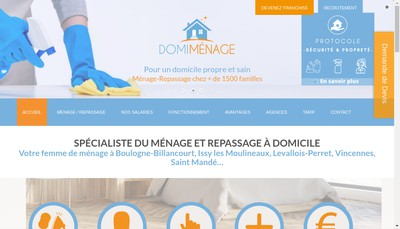 Site internet de Domi Menage