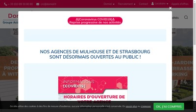 Site internet de Domial