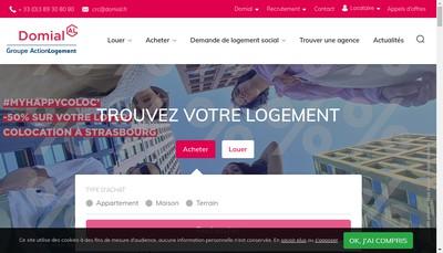 Site internet de Residences d'Alsace SA d'Hlm