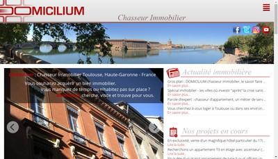 Site internet de Domicilium