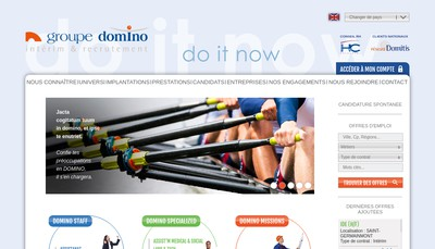 Site internet de Domino Flandres
