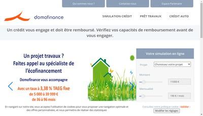 Site internet de Domofinance