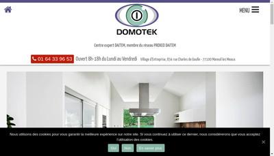 Site internet de Domotek