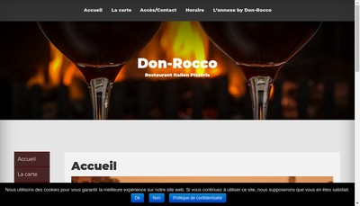 Site internet de Pizzeria Don Rocco