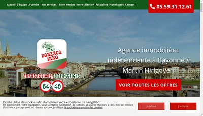 Site internet de Donzacq Immo