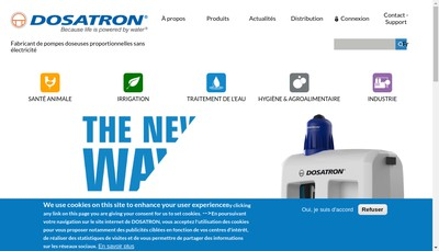 Site internet de Dosatron International