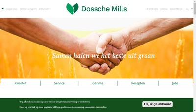 Site internet de Dossche Mills France