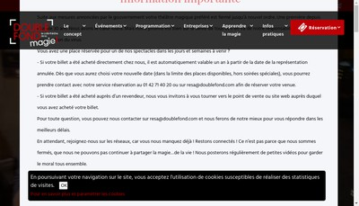 Site internet de Le Double Fonds