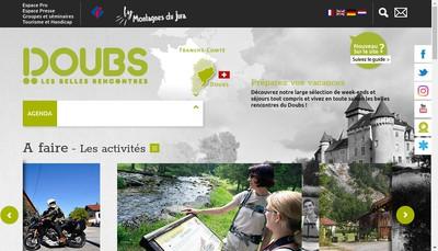 Site internet de Comite Departemental Tourisme Doubs