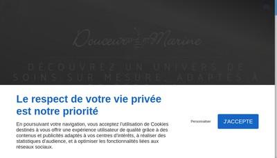 Site internet de Douceur Marine