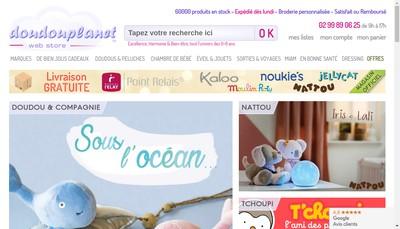 Site internet de Doudouplanet-Babystoria-Ecussons-Persorama