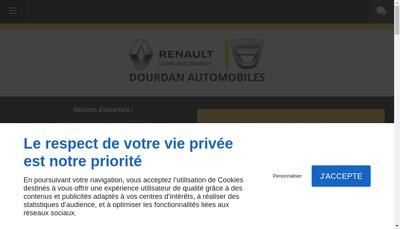 Site internet de Dourdan Automobiles