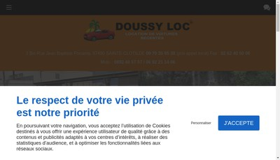 Site internet de Doussy Loc