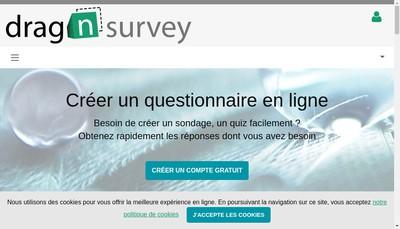 Site internet de Drag'N Survey