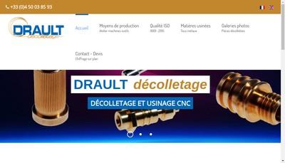 Site internet de Drault Decolletage