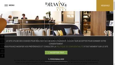 Site internet de Drawing Hotel