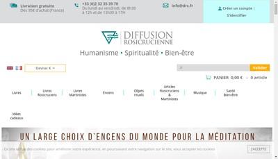 Site internet de Diffusion Rosicrucienne DRC