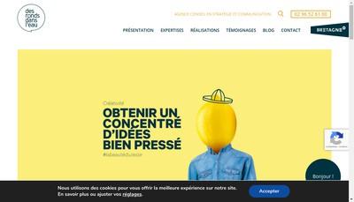 Site internet de Des Ronds Dans l'Eau