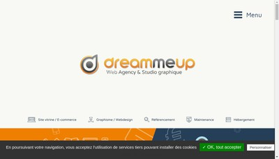 Site internet de Dream Me Up