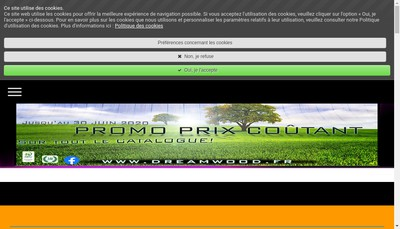 Site internet de Dreamwood