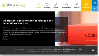 Site internet de Droitdusport Com