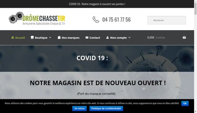 Site internet de Armurerie Dromechassetir