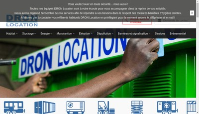 Site internet de Dron Immobilier