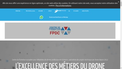 Site internet de Drone Process Training
