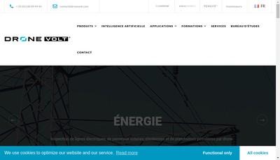 Site internet de Drone Volt