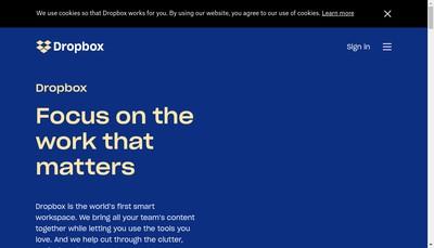 Site internet de Dropbox France