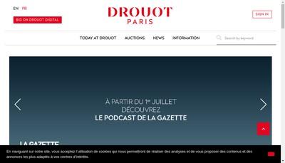 Site internet de Drouot Enchere