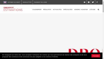 Site internet de Galerie Drouot