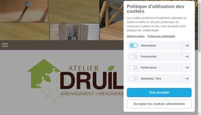 Site internet de Atelier Druilhet