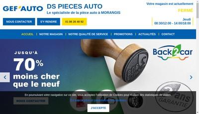 Site internet de Ds Pieces Auto