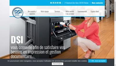 Site internet de Dsi Document Solutions Iseroises