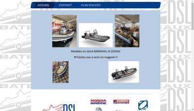 Site internet de Dsl Bateaux