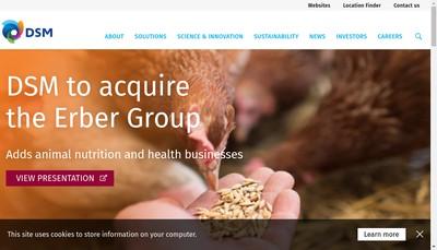 Site internet de Dsm Nutritional Products France