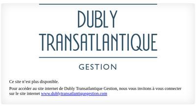 Site internet de Dubly Transatlantique Gestion